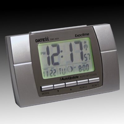 LCD Alarm Clock with Calendar, Temperature, Moon Phase by Symple Stuff