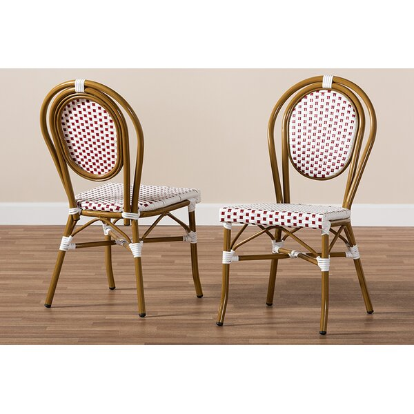 Marcantel Bamboo Stacking Patio Dining Chair (Set of 2) by World Menagerie World Menagerie