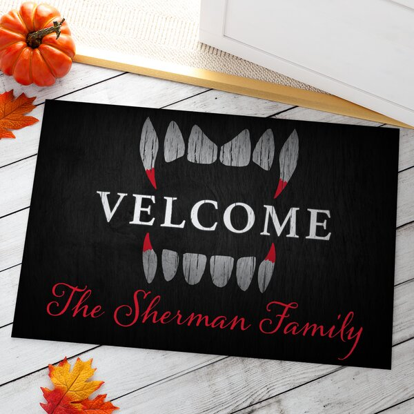 Almeida Scary Welcome Personalized Doormat by The Holiday Aisle