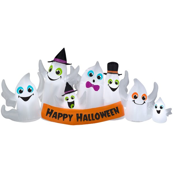 Halloween Party Ghost Inflatable by The Holiday Aisle
