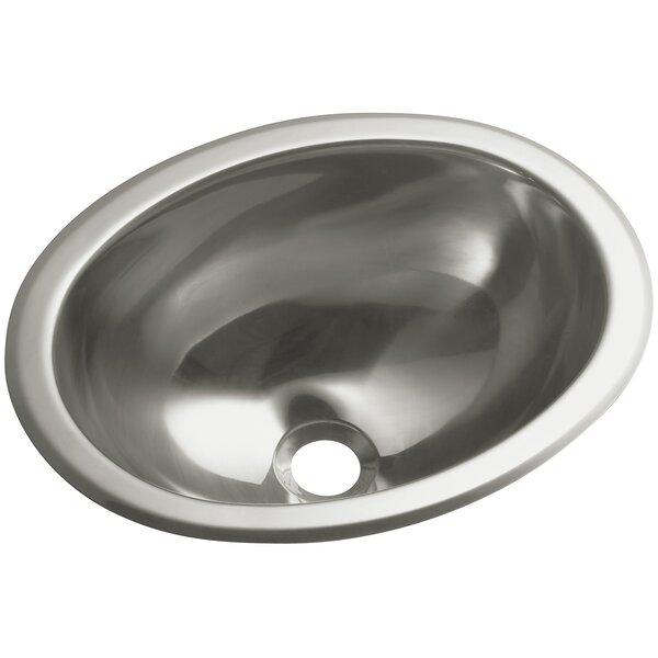 13 25 L X 10 5 W Oval Lavatory Kitchen Sink By Sterling By Kohler.