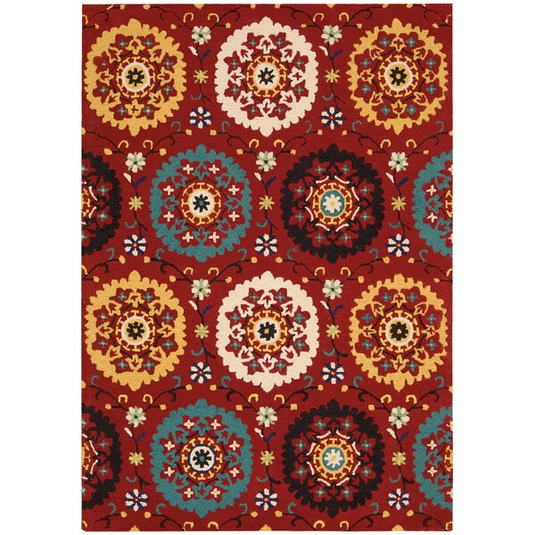 Aberdeenshire Hand-Tufted Wool Red Area Rug