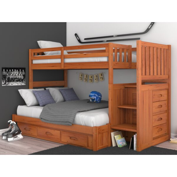 Giuseppe Twin over Full Bunk Bed with Drawers by Birch Lane™ Heritage