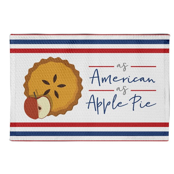 Dubon-Claros as Apple Pie Red/Blue Area Rug by August Grove