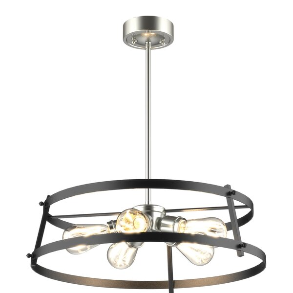 Elmo 5 - Light Unique Geometric Chandelier by Williston Forge Williston Forge