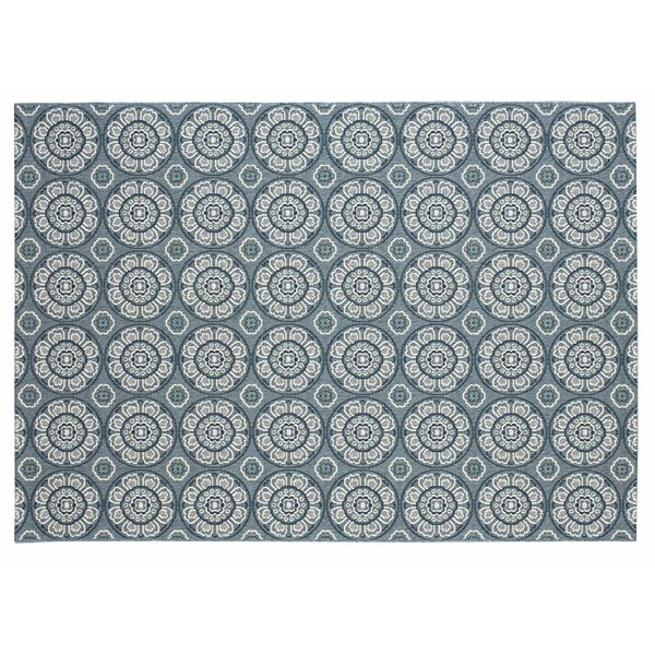 Frison Ikat Blue/Gray/Beige Indoor/Outdoor Area Rug