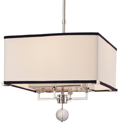 Emsley 4 - Light Unique / Statement Rectangle / Square Chandelier by Darby Home Co Darby Home Co