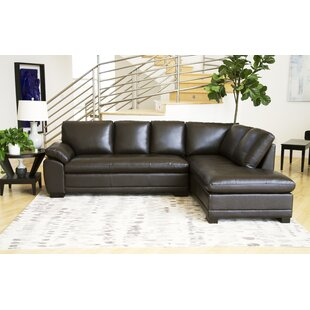 Leather Sectional Sofas You\'ll Love | Wayfair