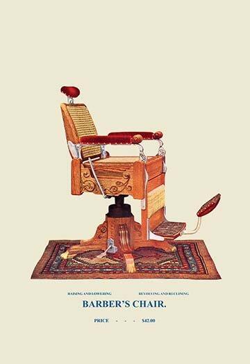 Wicker Barberu0027s Chair Graphic Art