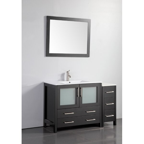 Bow 48 Single Bathroom Vanity Set with Mirror by Wrought Studio