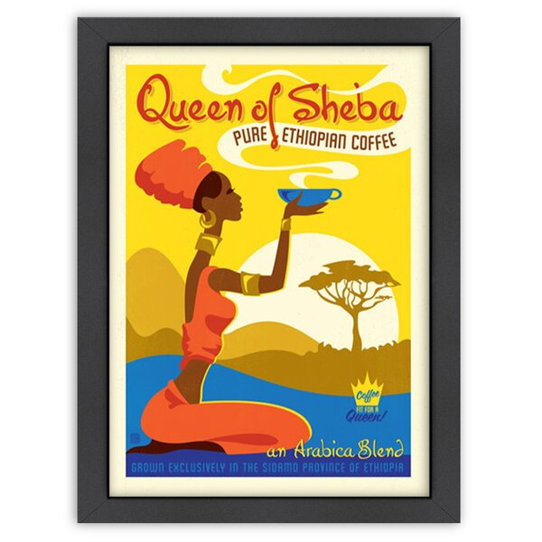 Queen of Sheba Framed Vintage Advertisement by East Urban Home