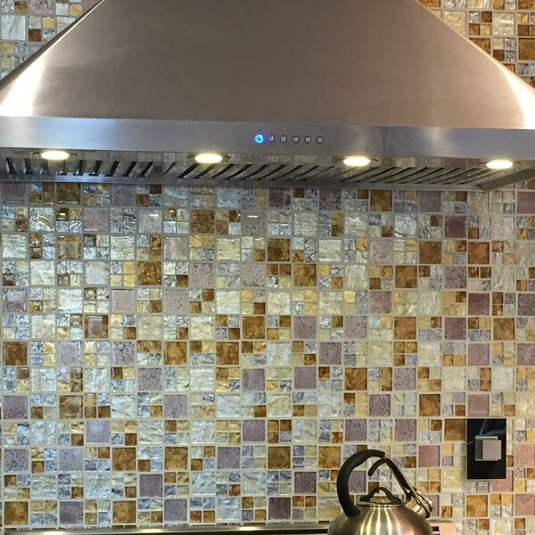 Signature Line Glass Mosaic Tile in Gray/Gold by Susan Jablon
