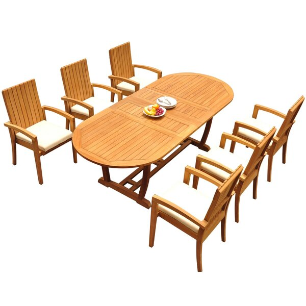 Willey 7 Piece Teak Dining Set by Bayou Breeze