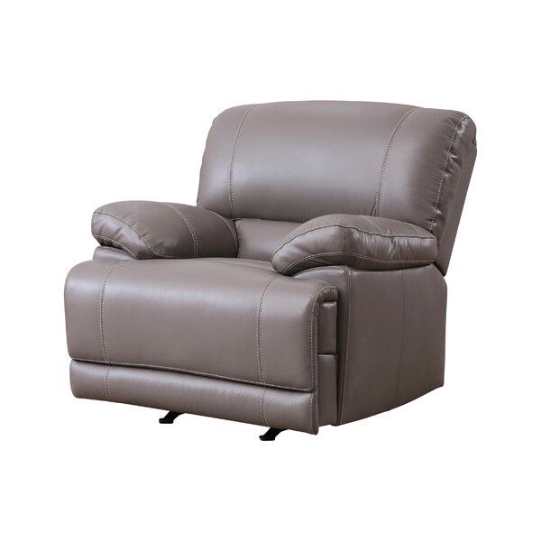 Loper Leather Manual Rocker Recliner [Red Barrel Studio]