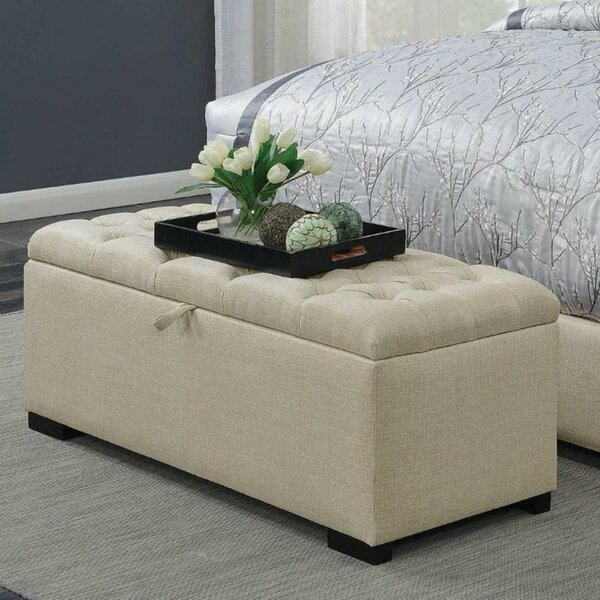 Burkhardt Upholstered Flip Top Storage Bench
