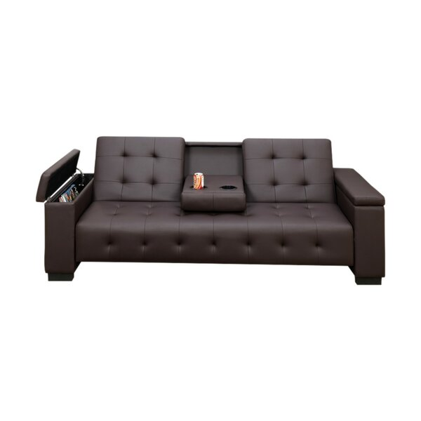 Cheesman Adjustable Sofa with Dropdown Console by Ebern Designs