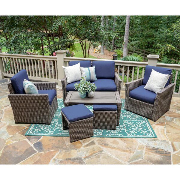 Allegro 6-Piece Sofa Seating Group with Cushions by Bayou Breeze