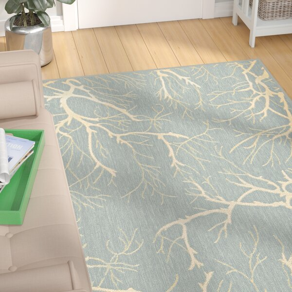 Alhambra Light Blue Indoor/Outdoor Area Rug by Ebern Designs