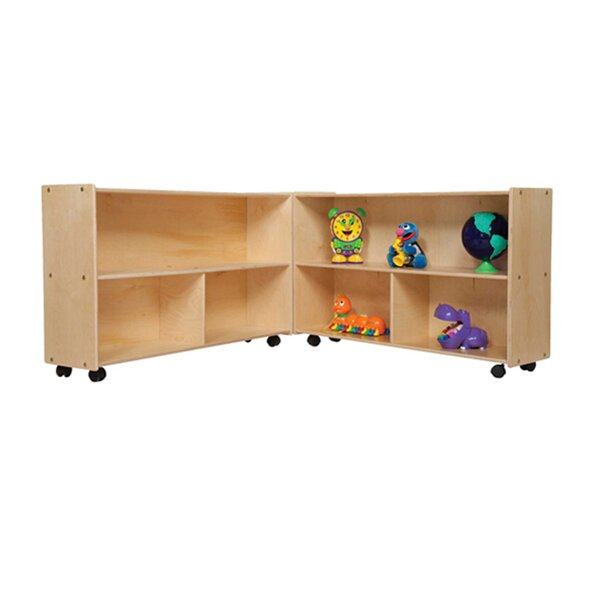 Clarendon Folding 6 Compartment Shelving Unit with Casters by Symple Stuff