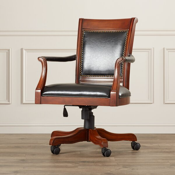 Strawn Genuine Leather Upholstered Dining Chair by Darby Home Co