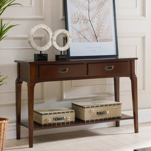 Jacobsen 2 Drawer Console Table by Charlton Home Charlton Home