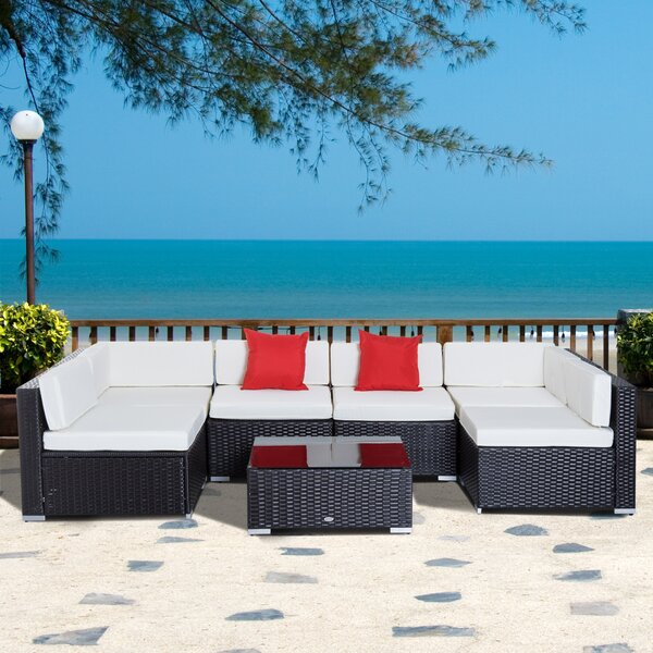 Merton 7 Piece Rattan Sectional Seating Group With Cushions By Sol 72 Outdoor by Sol 72 Outdoor Herry Up