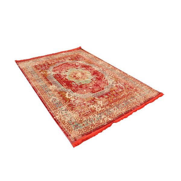 Hart Red Area Rug by Bungalow Rose