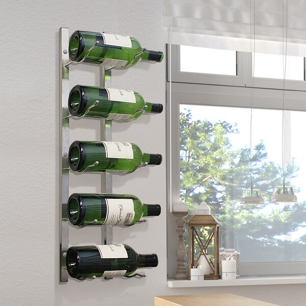 Magnum 5 Bottle Wall Mounted Wine Rack by Epicureanist