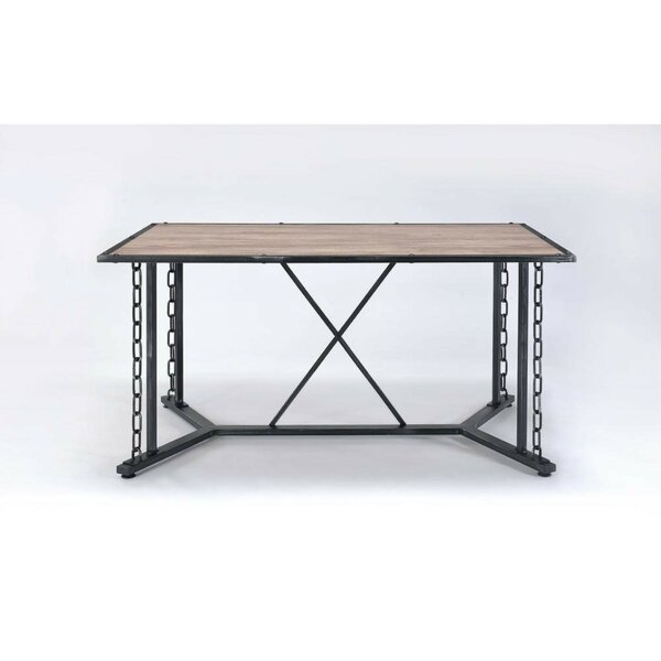 Cambron Industrial Rectangular Solid Wood Dining Table W000799473