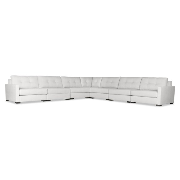 Secrest Buttoned Right And Left Arms L-Shape Modular Sectional By Brayden Studio