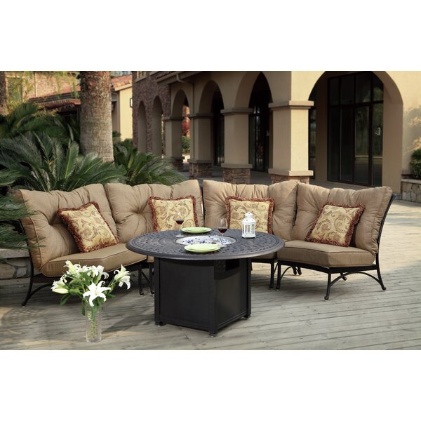 Lanesville 5 Piece Conversation Set with Cushions by Darby Home Co