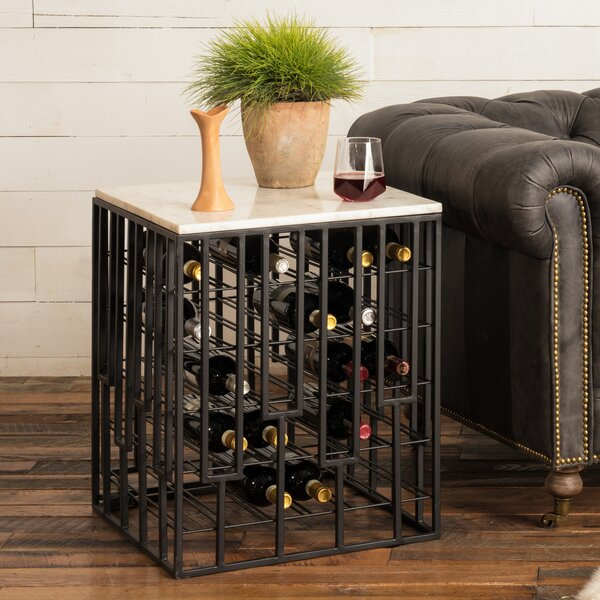 Marble End Table 28 Bottle Floor Wine Rack by Wine Enthusiast