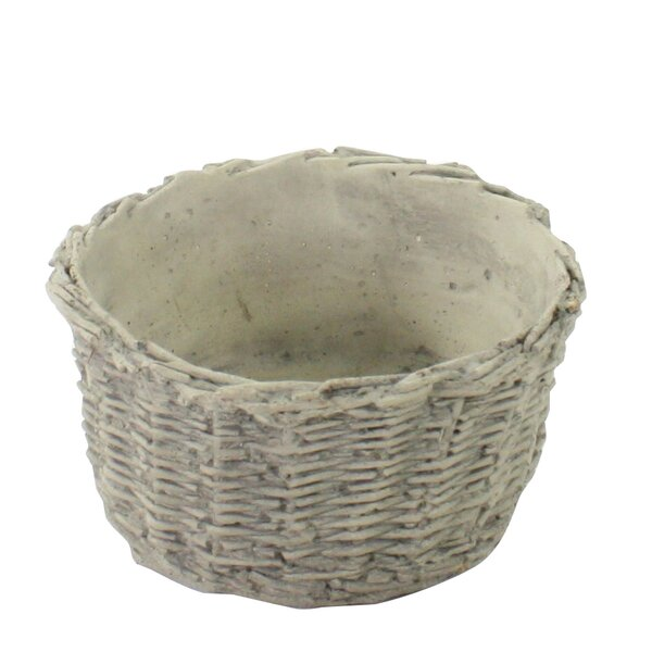 Kincses Weather Resistant Twined Weave Cement Pot Planter (Set of 4) by August Grove