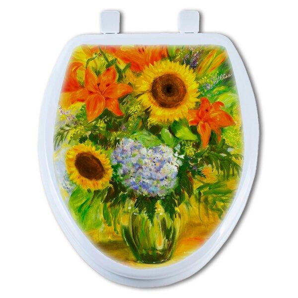 Bright Flower Elongated Toilet Seat by TGC Artisans Seats