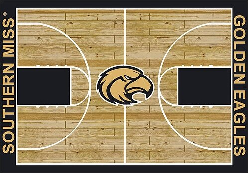 NCAA College Home Court Southern Mississippi Novelty Rug by My Team by Milliken