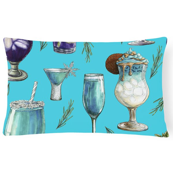 Surry Drinks and Cocktails Lumbar Pillow by Latitude Run