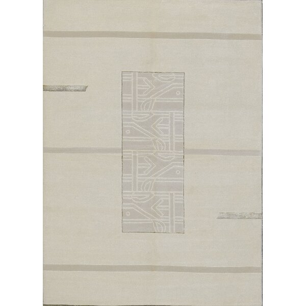 Tibetan Hand-Knotted Wool Ivory Area Rug by Bokara Rug Co., Inc.
