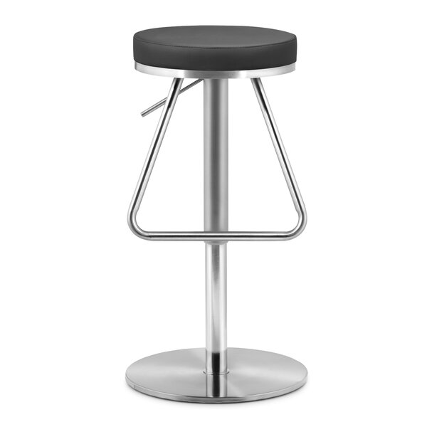 Robles Adjustable Height Swivel Bar Stool by Orren Ellis