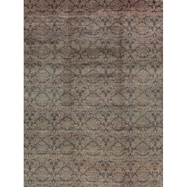 Hand-Knotted Wool Red Area Rug