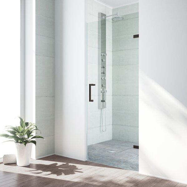 SoHo 26.5 x 70.625 Hinged Adjustable Frameless Shower Door by VIGO
