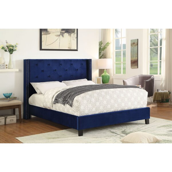 Godinez King Upholstered Platform Bed By Everly Quinn by Everly Quinn Cheap