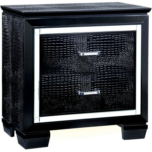 Sidney 2 Drawer Nightstand by Rosdorf Park
