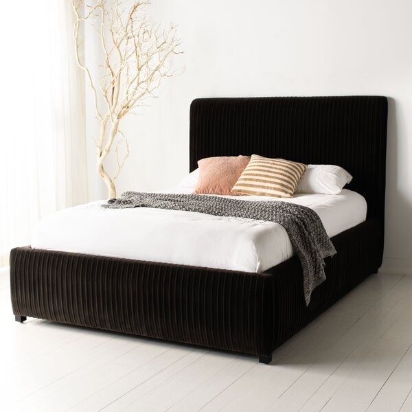 Lauretta Pleated Upholstered Standard Bed by Everly Quinn