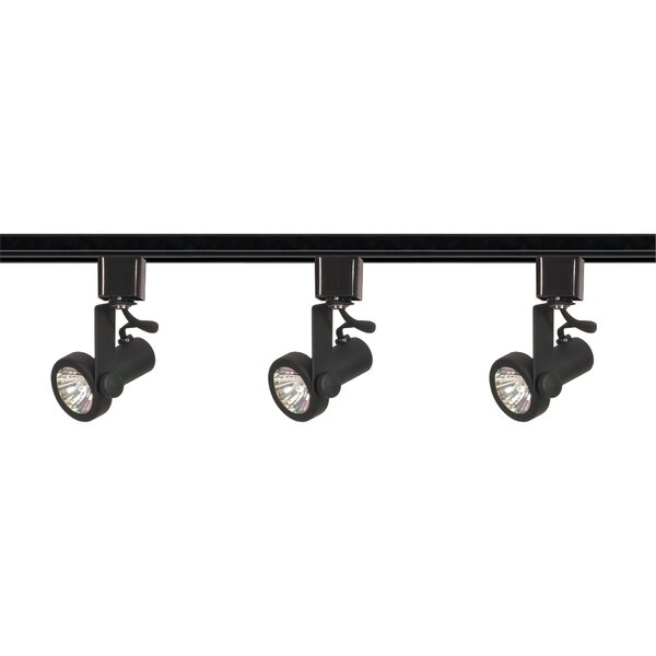 Gimbal 3-Light Line Voltage Ring Track Kit by Nuvo Lighting