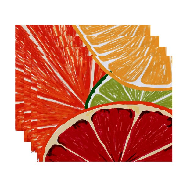 Costigan Lemonade Placemat (Set of 4) by Bay Isle Home