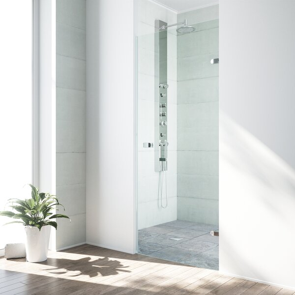 Tempo 30.255 x 70.63 Hinged Adjustable Frameless Shower Door by VIGO