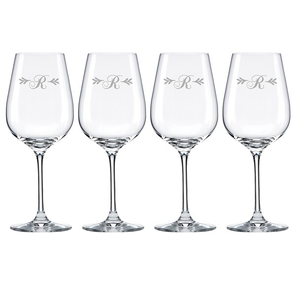 Merlot Script Tuscany Monogram Pinot Grigio 16 Oz. White Wine Glass (Set of 4) by Lenox