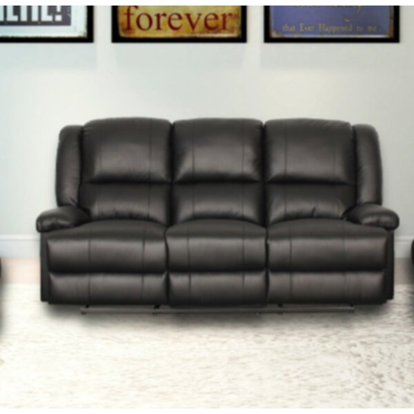 Shaina Classic Genuine Leather Manual Recliner By Winston Porter
