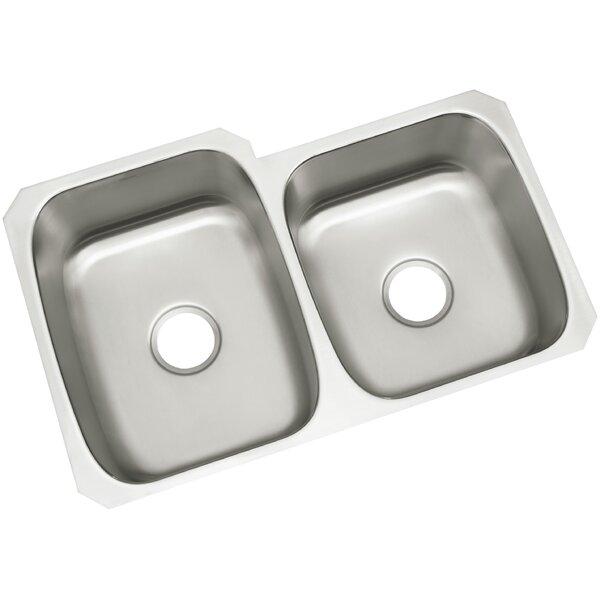 McAllister 32 L x 21 W Undermount Unequal Double Basin Kitchen Sink by Kohler