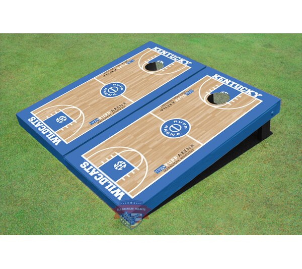 University of Kentucky Rupp Arena Matching Basketball Court Cornhole Board (Set of 2) by All American Tailgate